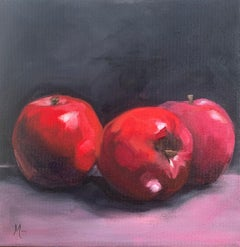 Apples on Pink, Oil Painting