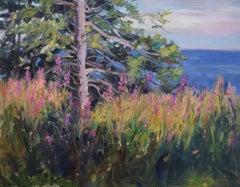 Superior's Purple Shore, Oil Painting