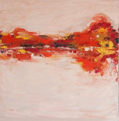 Autumn Reflection, Abstract Oil Painting