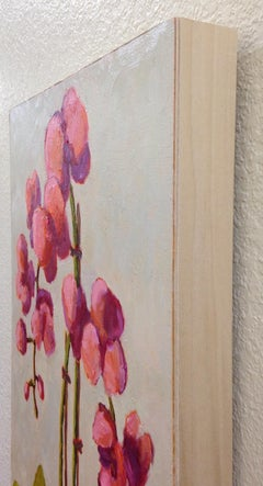 Coral Orchid, Oil Painting