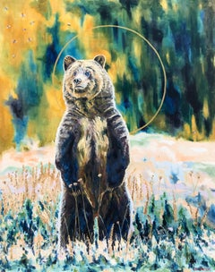 Golden, Oil Painting