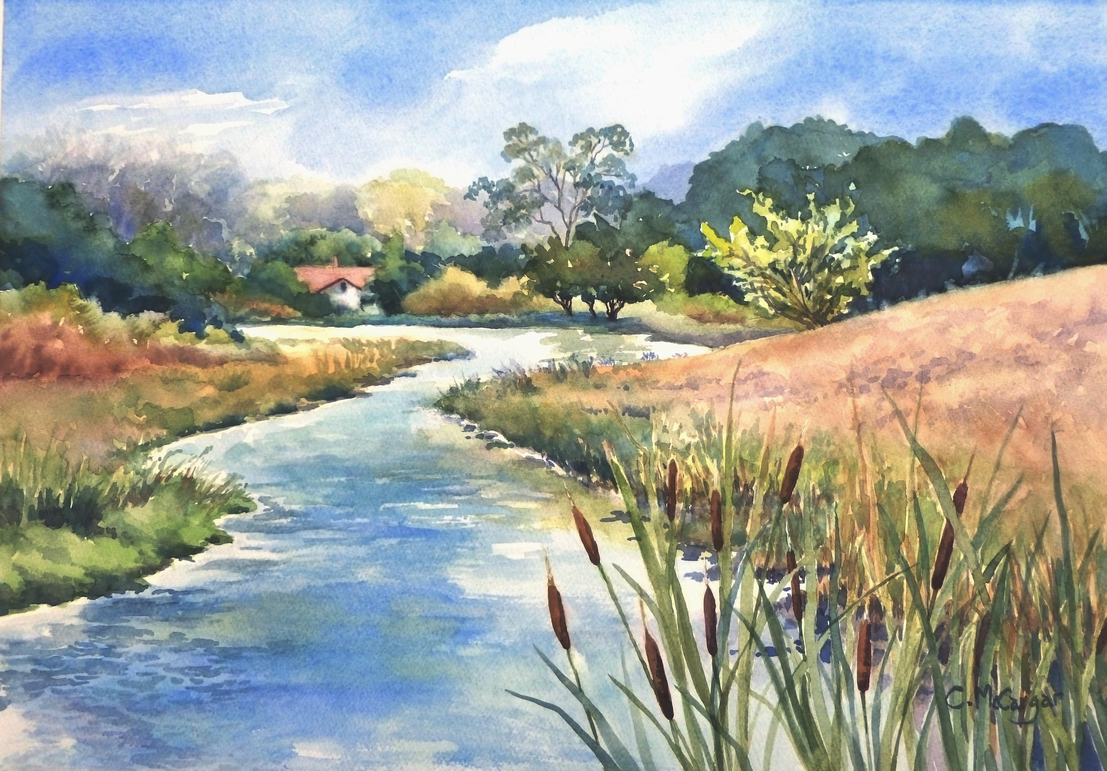 Upstream, Original Painting