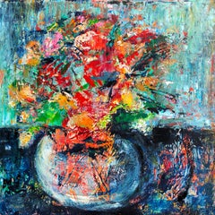 Floral Splashes, Oil Painting