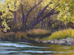 At the Edge of the Stream, Original Painting