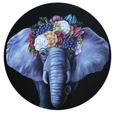 Elephant Queen, Oil Painting