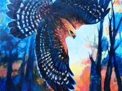 Sky Hawk, Oil Painting