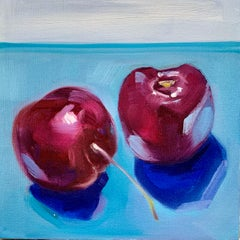 Dark Cherries, Oil Painting