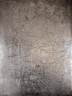 Silver Day, Abstract Painting