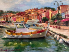 Boat in Cassis, Oil Painting