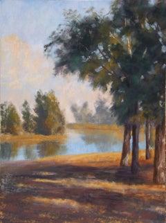The Pond at Windmill Farm, Original Painting