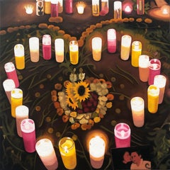 Heart of Candles, Oil Painting