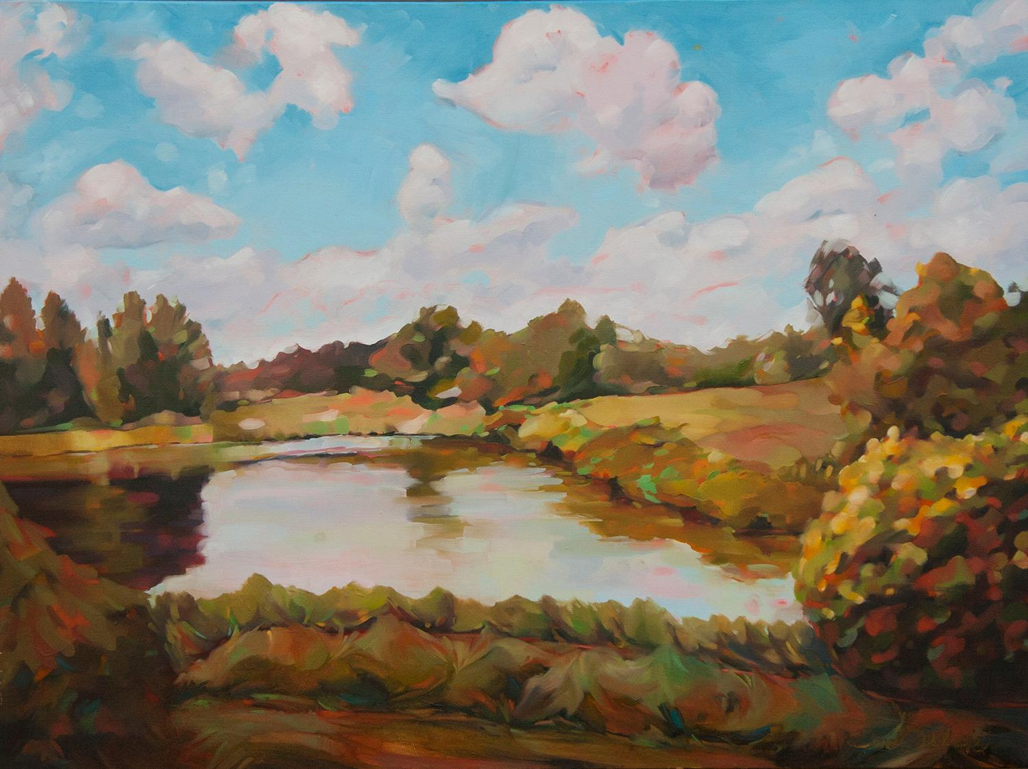 Cuscowilla, Oil Painting