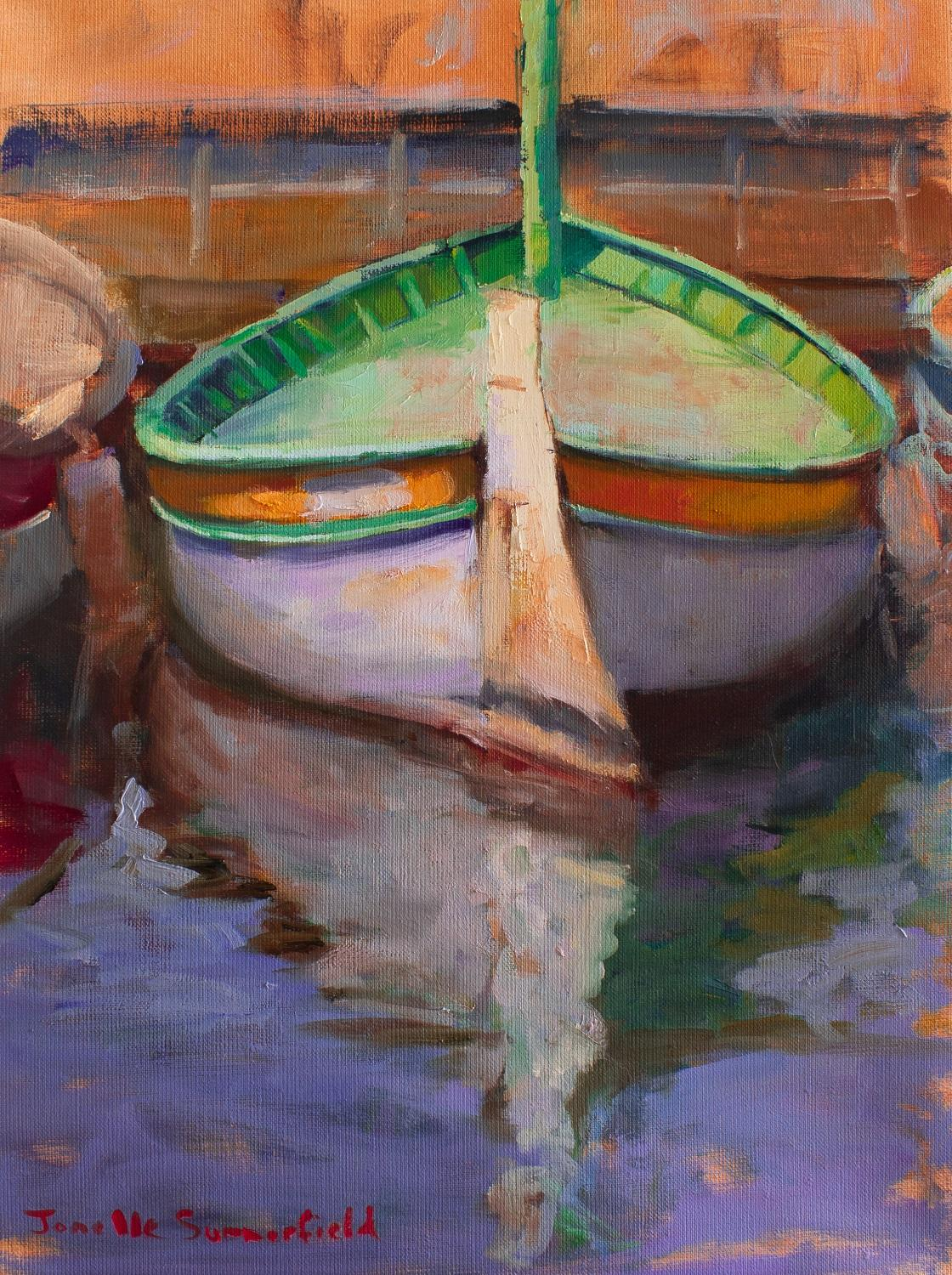 Boat in Cassis II, Oil Painting