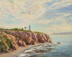 Point Vicente Light, Oil Painting