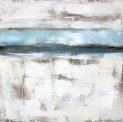 Winter Lake, Abstract Painting