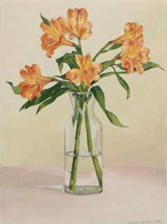 Lily of the Incas, Oil Painting