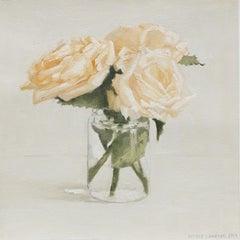 Peachy Roses, Oil Painting