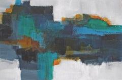 Drifting at Sea, Abstract Painting