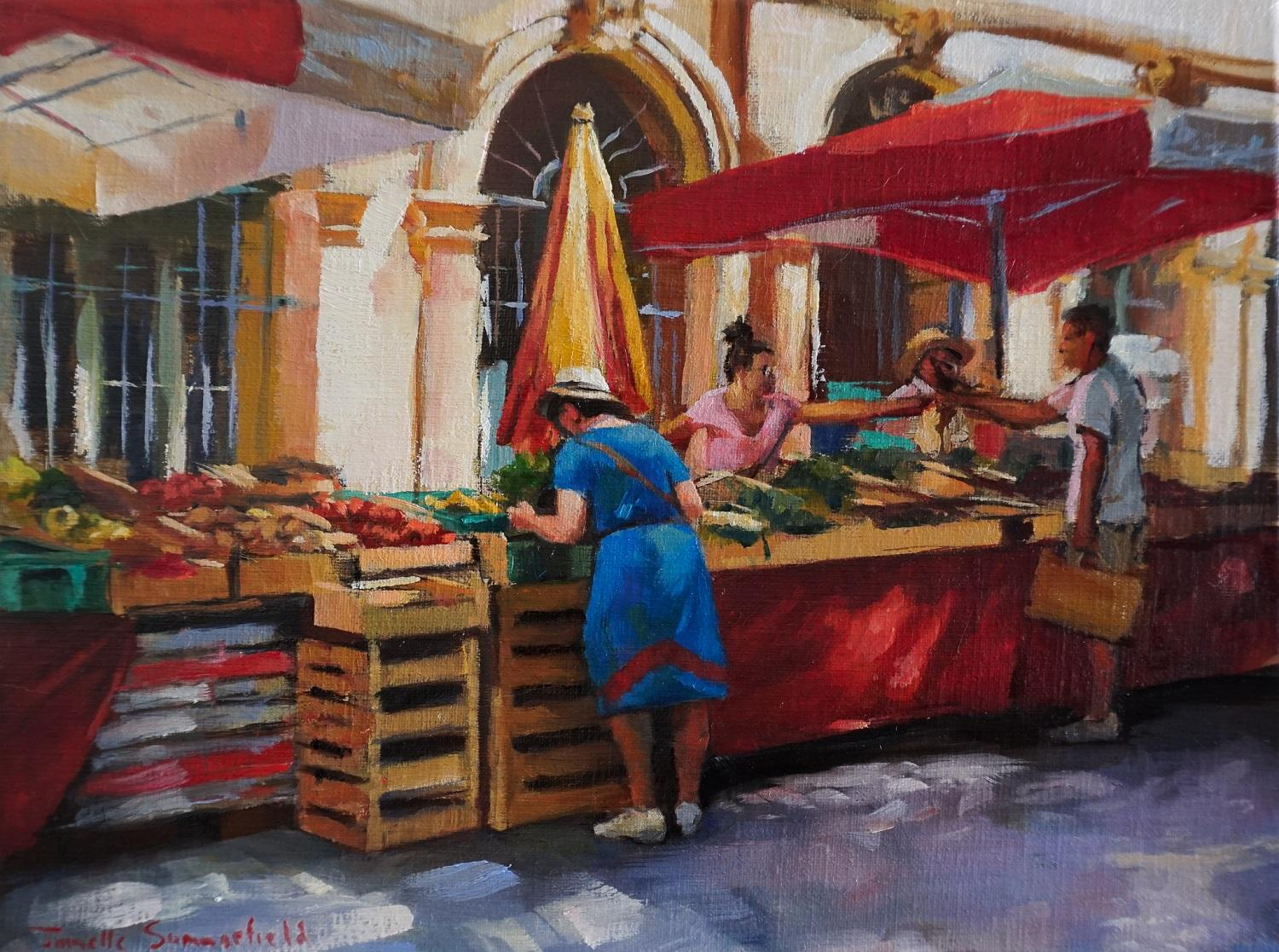 Market in Aix, Oil Painting