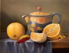 Orange Slice, Oil Painting