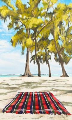 Beach Blanket, Oil Painting
