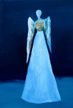 Blue Angel, Oil Painting
