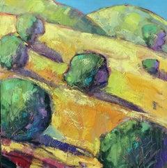 Mount Diablo Trees, Oil Painting