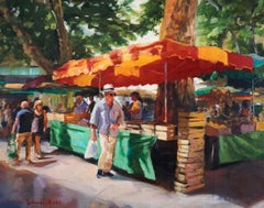 Market in Aix II, Oil Painting