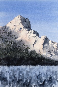 Final Light on the Mountain, Original Painting