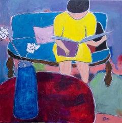 Woman Reading I, Original Painting
