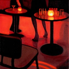 Legs at the MakeOut Room, Oil Painting