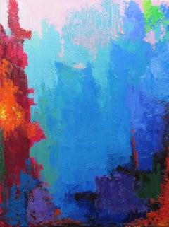 Lagoon, Abstract Oil Painting
