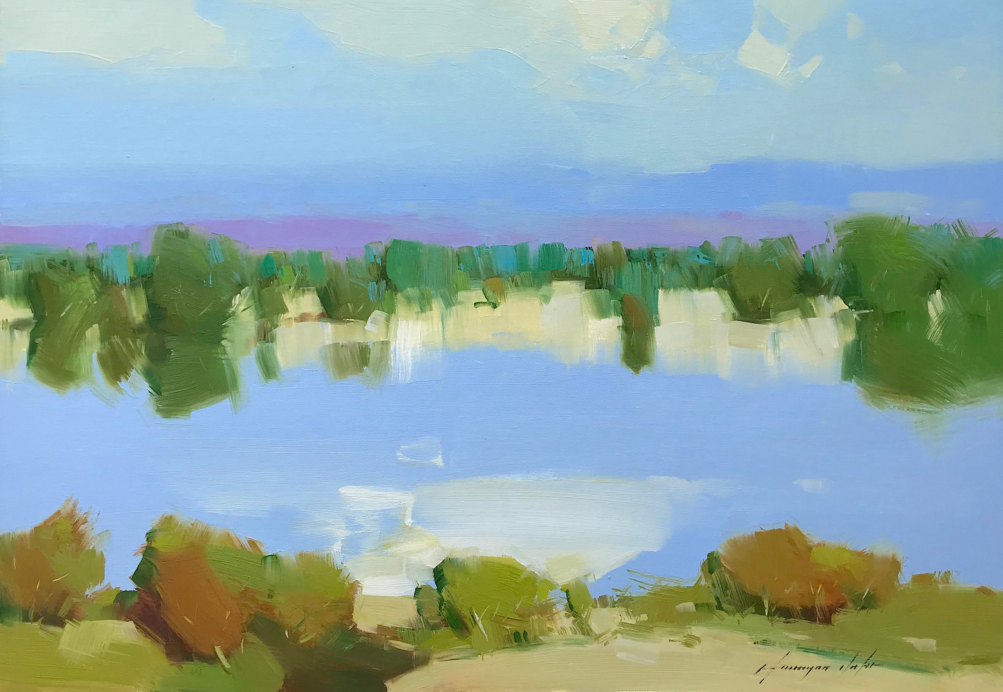 Lake View, Oil Painting