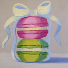Two Macarons, Oil Painting