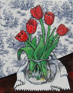 Red Tulips, Original Painting