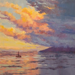 Sunset Sail, Oil Painting