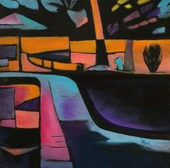 Desert Landscaping II, Oil Painting