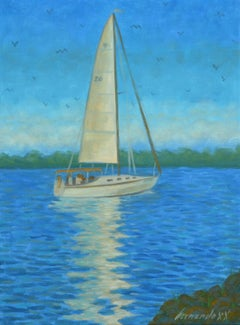 Sailing, Oil Painting