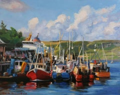 Docked in Oban, Oil Painting