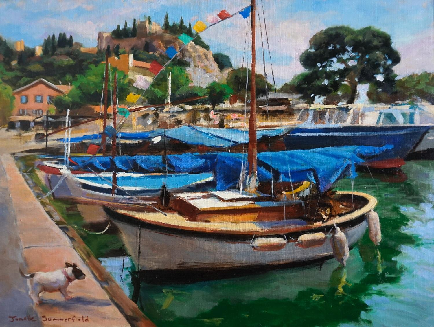 Cassis Marina, Oil Painting