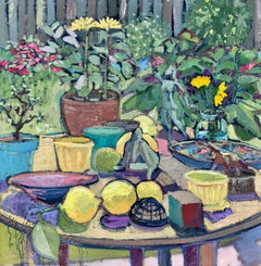 Table in Garden, with Citrons, Oil Painting