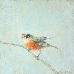 Baby Robin, Original Painting