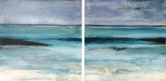 Tranquil Shores, Abstract Painting