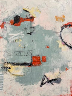 Red Bird, Abstract Painting