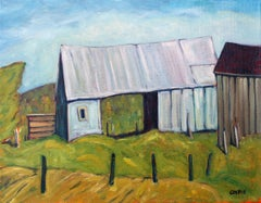 Tin Barn, St Lawrence County, NY, Oil Painting