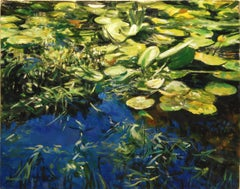 Water Lilies: Bright Morning, Oil Painting
