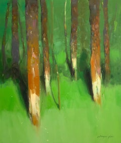 Forest Side, Oil Painting