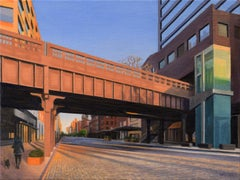 West 14th Street at Sunset, Oil Painting