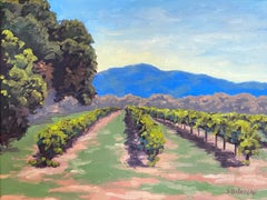 Mt Konocti Vineyards, Oil Painting
