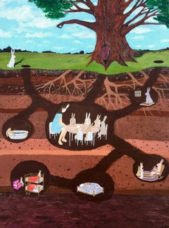 Secret Life of Bunnies, Original Painting